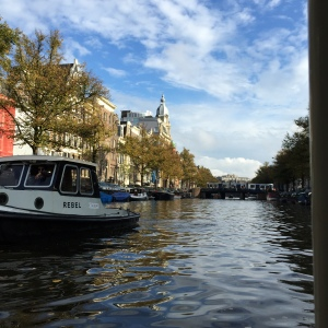 Water is everywhere in Holland. A boat ride down the canals of Amsterdam is inevitable.