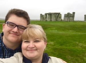 My wife Robyn and son Avery in a Stonehenge selfie.
